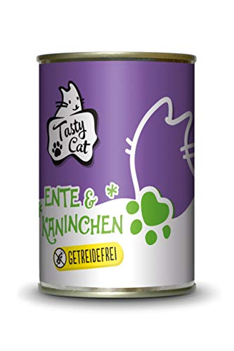 Tasty Cat Nassfutter für Katzen Ente & Kaninchen 400g. | getreidefrei | zuckerfrei