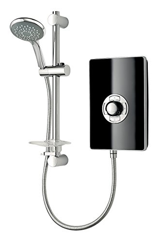Triton Showers RECOL208GSBLK Collection II Contemporary Electric Shower, Black Gloss, 8.5 KW
