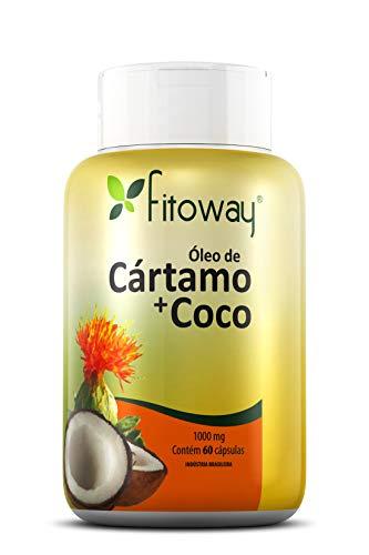 Óleo de Cartamo + Côco, Fitoway, 60 Cápsulas