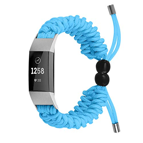 TechCode Sport Strap Compatible with Fitbit Charge 2 for Women Men, Soft Woven Wristband Replacement Adjustable Comfortable Nylon Strap Accessories for Fitbit Charge 2 Fitness Watch (A03)