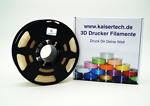 Kaisertech, filamento per stampanti 3D, 1 kg, PLA / ABS, 1,75 mm / 3 mm, qualità premium, colori assortiti, per Makerbot, Reprap, Makergear, Ultimaker e molto altro ancora, PLA 1.75mm, trasparente,