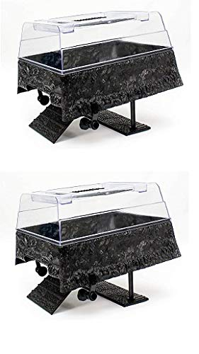 Penn Plax Turtle Tank Topper – Above-Tank Basking Platform for Turtle Aquariums, 17 x 14 x 10 Inches (Pack of 2)