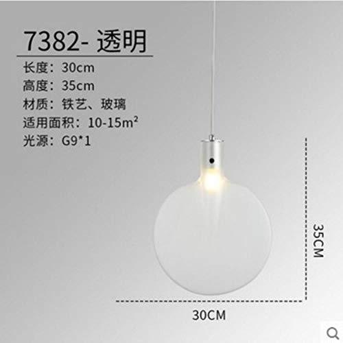 5151BuyWorld Lampe Anhänger Beleuchtung Glas Lampshades Tischtennisschläger Hängelampe Runde Bunte Led Droplight Loft Top Qualität {Weiß}