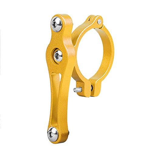 LinHut Portabidones de bicicleta para bicicleta, ligero y con un tornillo (dorado)