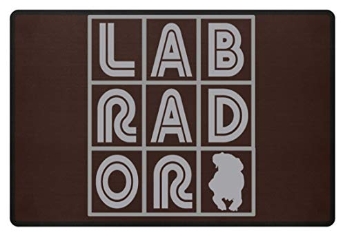 generisch Labrador - Kreuzworträtsel - Fußmatte -60x40cm-Braun