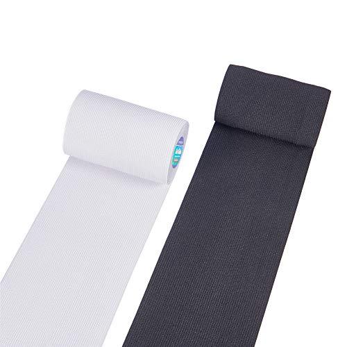 BENECREAT 6.6 Yards 100mm Breite Flache Gummibandspule Nähbänder Gurtband Kleidungsstück Nähzubehör (3.3 Yards/Farbe)