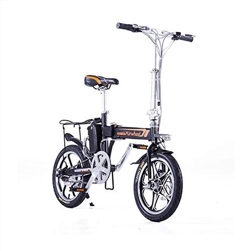 MAJESTIC r5+ airwheel, Bicicletta elettrica Pieghevole Smart, 16', Motore 36v 235w, Velocita' 20km-h, Unisex - Adulto, Nera