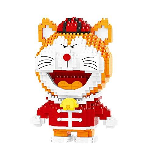 Cartoon Anime Doraemon China Katze Roboter Animal 3D Modell DIY Mini Diamant Ziegel Bausteine Spielzeug Für Kinder Geschenk (1005 stücke)