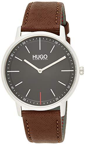 HUGO Reloj Analógico para Unisex Adultos de Cuarzo con Correa en Cuero 1520014