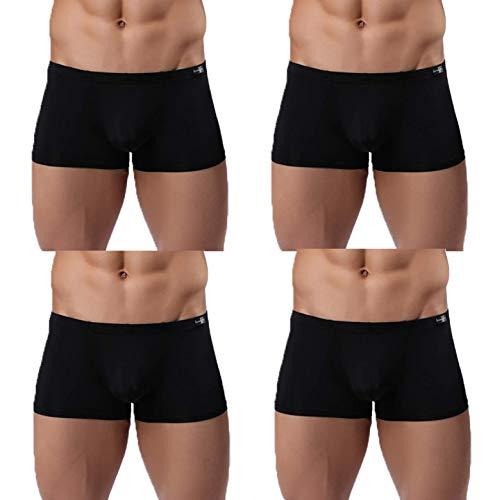 Men's Silky Boxer Briefs Short Leg Underwear Pack Health to Wear, 4pack-a01, Medium