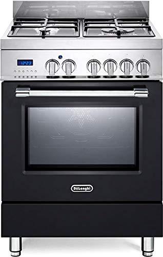 De Longhi PRO 66 MA ED Linea Pro - Cucina a gas 4 fuochi con forno elettrico ventilato 60x60 cm colore Antracite