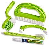 Foresight - Spazzola per fughe verde, per bagno, cucina e casa, pulisce efficacemente le p...