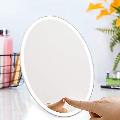 Style home Kosmetikspiegel mit Licht, Make up Spiegel, Faltbarer Schminkspiegel mit LED Beleuchtung, Standspiegel Tischspiegel Rasierspiegel, für Zuhause und Unterwegs