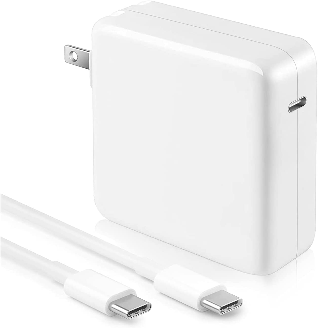 Mac Book Pro Charger - 100W USB C Charger Power Adapter for USB C MacBook Pro 16 15 13 Inch, MacBook Air 13 Inch 2021 2020 2019 2018, New iPad Pro, Include Charge Cable(7.2ft/2.2m)