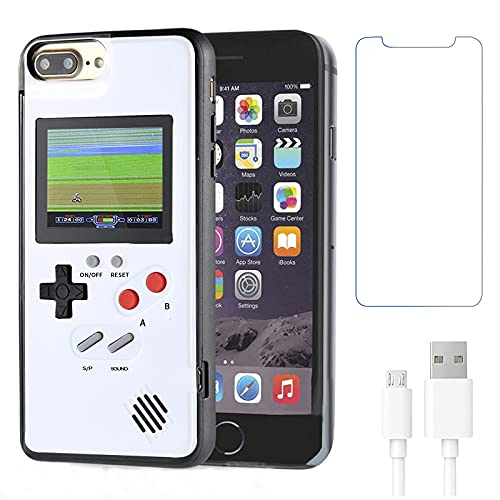 Gameboy Hülle for iPhone 6 /6s /7/8,Handheld Retro 36 Classic Games,Color Video Bildschirm Game Hülle for iPhone,Anti-Scratch Shockproof Phone Cover for iPhone WeLohas