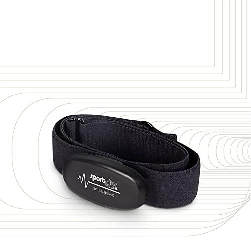 SportPlus Bluetooth 4.0 Herzfrequenz-Brustgurt für iOS (ab 7.1), Android (ab 4.3) und Windows Phone, mit ANT+ und 5,3 kHz - SP-HRM-BLE-400