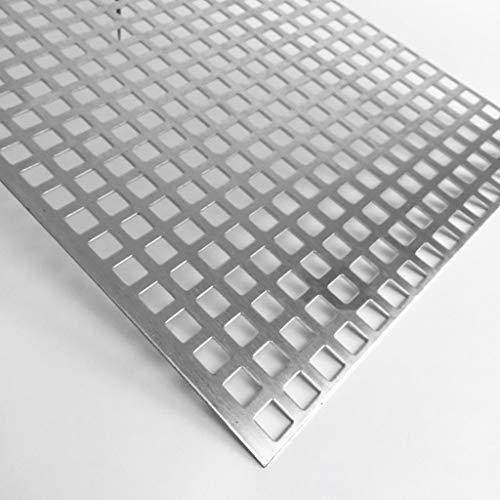 Lochblech Alu QG10-15 Aluminium 2mm Zuschnitt individuell auf Maß NEU günstig (1000 mm x 550 mm)