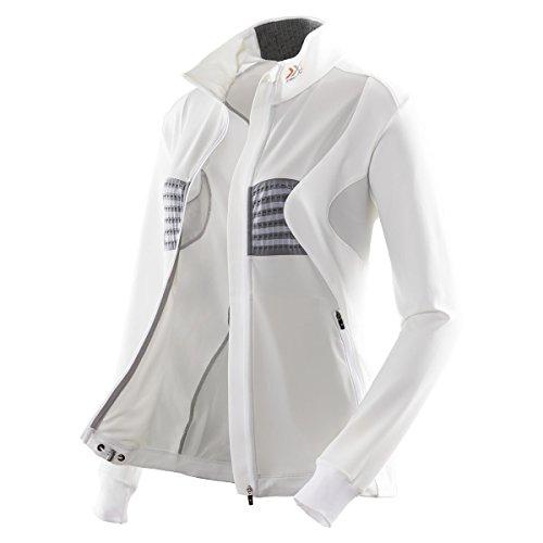 X-Bionic Pull de Ski pour Adulte imperméable Lady Raton Laveur Ow 2nd Layer Full-up Blanc/Gris-Taille xL/o100083