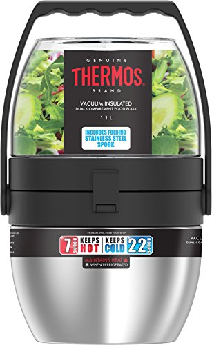 THERMOS Double Compartiment Alimentaire Isotherme – 1,1 l