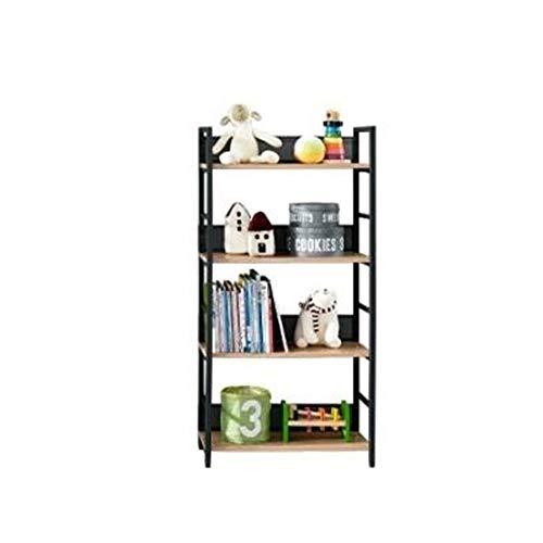 JCNFA planken boekenkast metalen plank smeedijzeren stalen frame met mesh woonkamer slaapkamer studie, 4 verdiepingen, 5 verdiepingen 23.62 * 11.02 * 40.35in Zwart