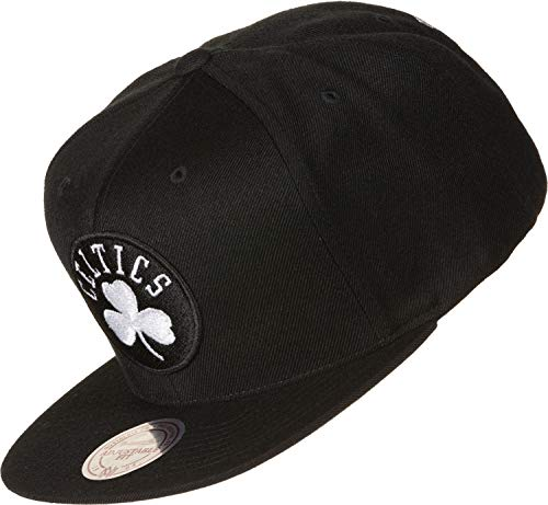 Mitchell & Ness Boston Celtics 18155 Wool Solid Black White Snapback Cap Kappe Basecap