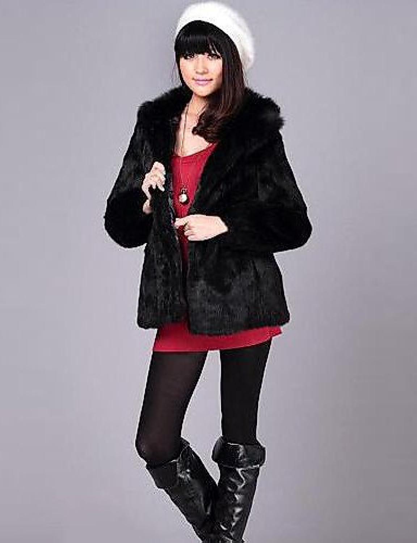 IJKMN YRF Women Faux Fur Outerwear, Belt Not Included