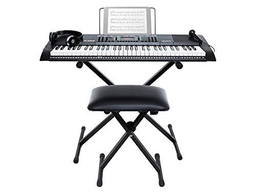 Alesis HARMONY 61 MKII - Tastiera Musicale Portatile - Pianola con Cuffie, Casse Integrate, Microfono, Stand, Leggio, Sgabello e 61 Tasti