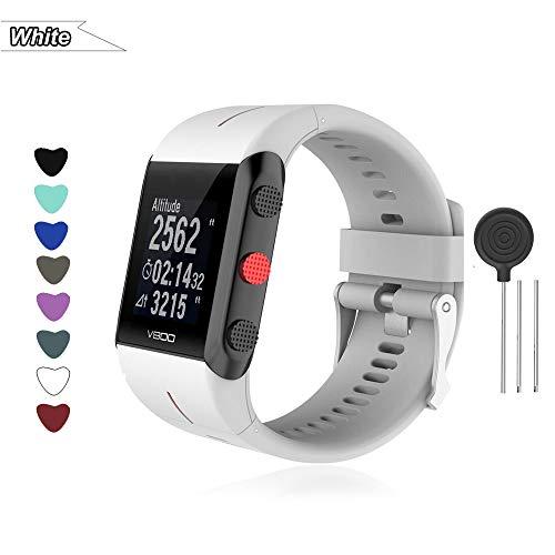 Bemodst Armband für Polar V800 Smart Watch, Silikon Uhrenarmband Ersatz Zubehör Uhrenarmbänder Sport Handgelenk Ersatzband Uhr Gurt für Polar V800 Fitness Tracker (weiß)