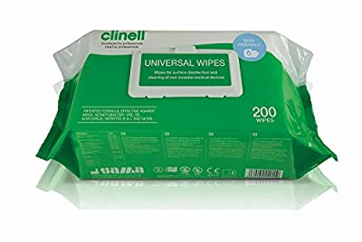 Clinell Antibacterial Hygiene Wipes x 200 Pack by NRS