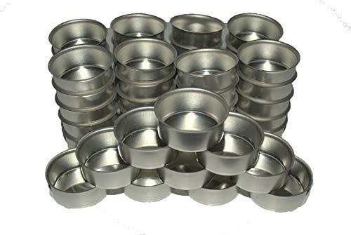 Naturdeko24 Teelichttüllen 40mm Silber/Metall 50er Set | Kerzentülle | Teelicht Tüllen für Standard Teelichtkerzen | Teelichthalter
