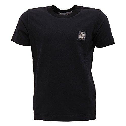 Stone Island 3360U Maglia Bimbo Junior Nero Black t-Shirt Kid Boy [2 Years]