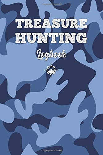 Treasure Hunting Log Book Journal Notebook Diary Planner - Blue Camouflage: Geo Hunt Record with 120 Pages In 6