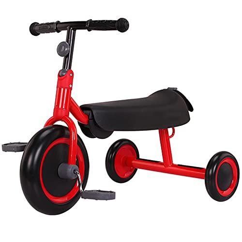 LINQ Kiddo Trike - Bicicleta de Equilibrio para niños Plegables, Bicicletas con Materiales ecológicos y neumáticos a Prueba de explosiones, Amarillo (Color : Red)