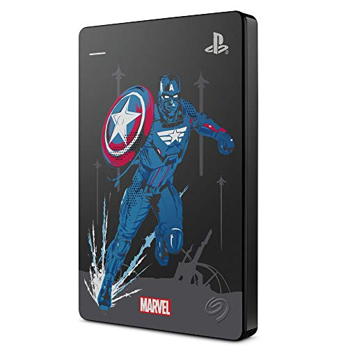 Seagate Game Drive per PS4 Avengers: Captain America Special Edition, 2 TB, Hard Disk Esterno Portatile, USB 3.0, Compatibile con PS4 e PS5, Limited Edition Marvel (STGD2000206)