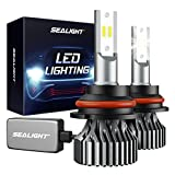 SEALIGHT 9004/HB1 LED Bulbs, 60W 12000LM 6000K Xenon White, Halogen Replacement, Quick Installation