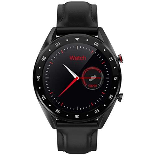 Xinxie Smart Watch Armband Bluetooth Headset L7 Smart Watch Uhr Fitness Smart Watch Activity Tracking Smart Bracelet wasserdichte Smart Watch,Blackleather