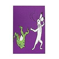 鳥獣戯画 カエル ウサギ 蛙2 1000ピースパズル 男の子と女の子のための幼児教育 大人のストレス解消のためのクリエイティブギフト
