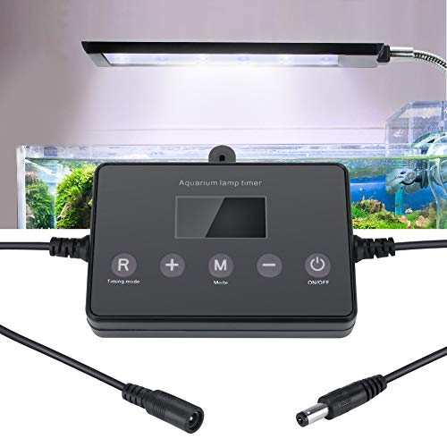 Achort LED Lichtmodulator für Aquarien LED Aquarium Beleuchtung LED Digital Dimmer mit 5.5mm Power Connector 12-24V Intelligentes Timing Aquarium LED Lichter LED Lampe Dimmer Controller