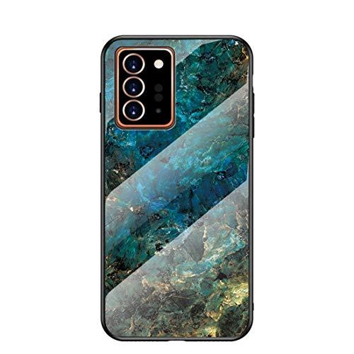 MadBee für Samsung Galaxy Note 20 Plus Hülle [mit HD-Schutzfolie], Marmor Kratzfeste 9H Glas Back & TPU Silikon Rahmen und weichem Bumper Stoßabsorbierende Schutzhülle (Marmor 3)