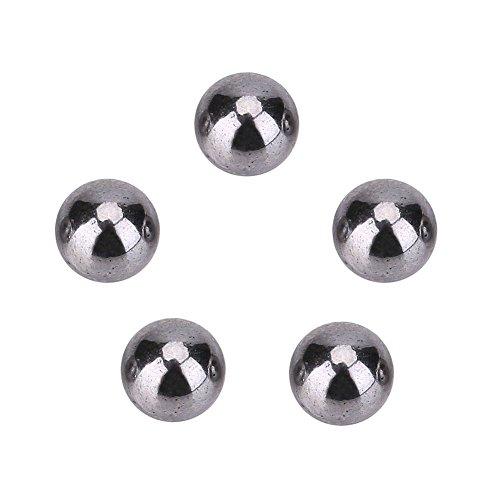 Hongzer Bola de Acero, 600 Piezas 4.5 mm Bola de Acero Caza Catapulta Tirachinas Rodamiento Munición Juego para Adultos