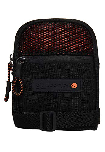 Superdry Citybag SPORT POUCH Black Orange, Size:ONE SIZE