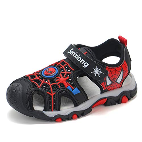 YEMAO Enfants GARÇON Spiderman Sandales Sport d'extérieur Chaussures d'eau Summer Beach,Black-26 EU