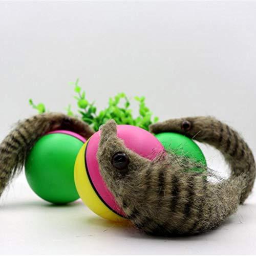 SANTITY Wiesel Spielzeug Roll Jump Ball Haustier Hund Katze Spielzeug Elektrische Biber Wiesel Spielzeug Roll Jump Ball Spielzeug Fuer Hund Katze Welpen Hund Lustige Verschieben Spielzeug