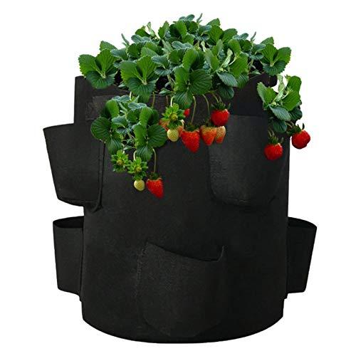 10 Galones Bolsas De Plantación Para Colgar En La Pared, Jardinera Contenedor De Cultivo De Flores Para Interiores Al Aire Libre Jardinera Para Macetas Bolsa De Cultivo De Fresas Para Cultivo