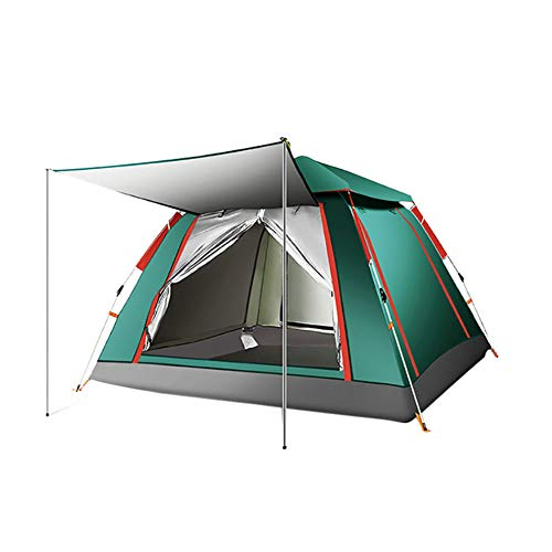 Outdoor 3-4 Personen Automatisches Zelt Strand Camping Zelt Verdicktes Regenschutzzelt Camping Schnell Offenes Zelt,Grün