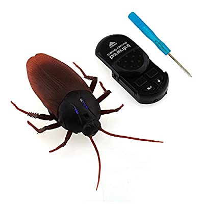 Tipmant RC Cockroach Remote Control Car Vehicle Animal Toys Electronic Fake Giant Insect Trick Bug with Screwdriver Kids Gift