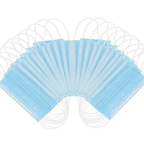 Disposable Face Masks for - Sealed Bag - Hygienic 3-Layer Filter Mask 50 Pcs