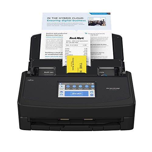 ScanSnap iX1600 Black Document Scanner – Desktop, A4, Double Sided with WiFi, Touchscreen, USB 3.2
