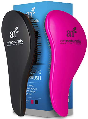 Beauty Shopping ArtNaturals Detangling Hair Brush Set – (2 Piece Gift Set – Pink &