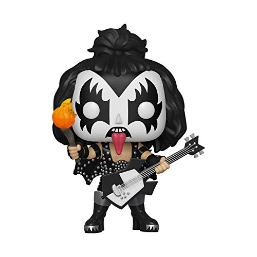 Funko- Pop Vinilo: Kiss: The Demon Figura Coleccionable, Multicolor, Estandar (28505)